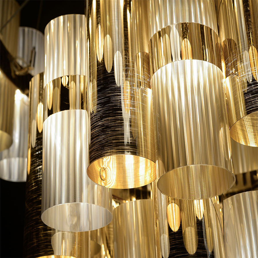 La Lollo XL Pendant Lamp in Gold-Fume