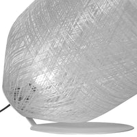Black Out Outdoor Floor Lamp in White Fiberglass with Matt White Metal [ONLINE EXCLUSIVE]