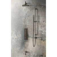 Gessi Inciso L 58148.187 ceiling 200mm with wall arm, aged bronze