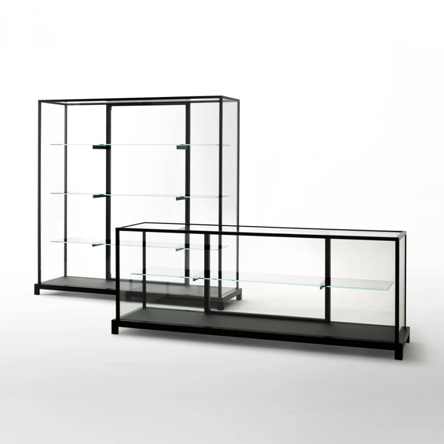 Wunderkammer Storage Unit With Structure In Dark Brown Anodized Aluminium