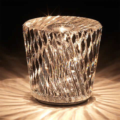 Xtal Becrux XTL-BX Cordless LED Table Lamp In Crystal Glass