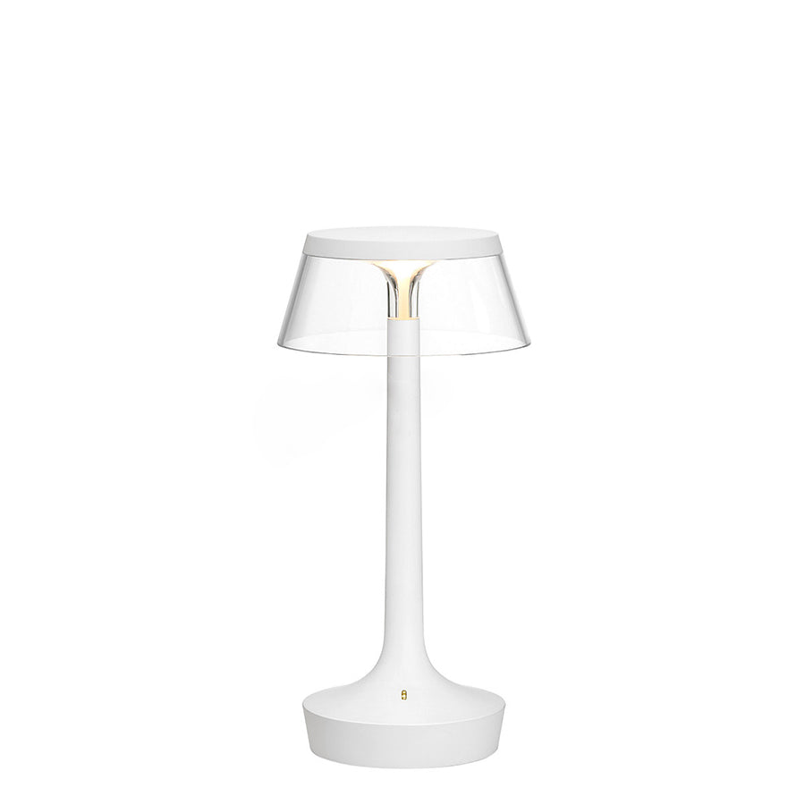 Bon Jour Unplugged Table Lamps in White