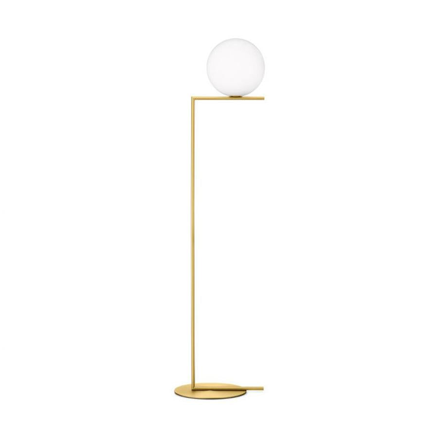 IC Lights F2 Floor Lamp in Brushed Brass