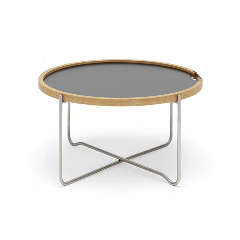 CH417 Small Table In White And Black Laminate Top