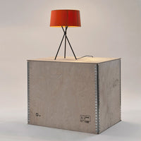 Tripode M3 Table Lamp in mustard lampshade, black structure
