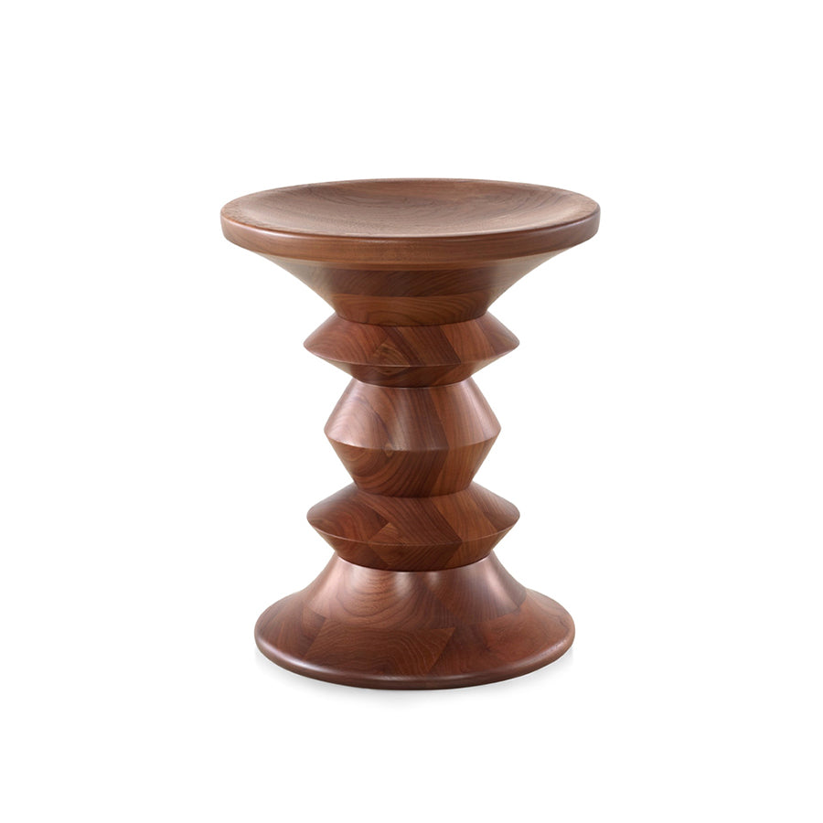 Eames Walnut Stool In Walnut
