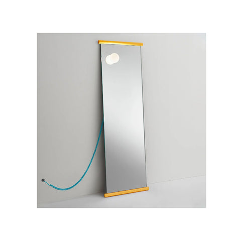 Ecco Mirror With Extralight Glass And Yellow Edge
