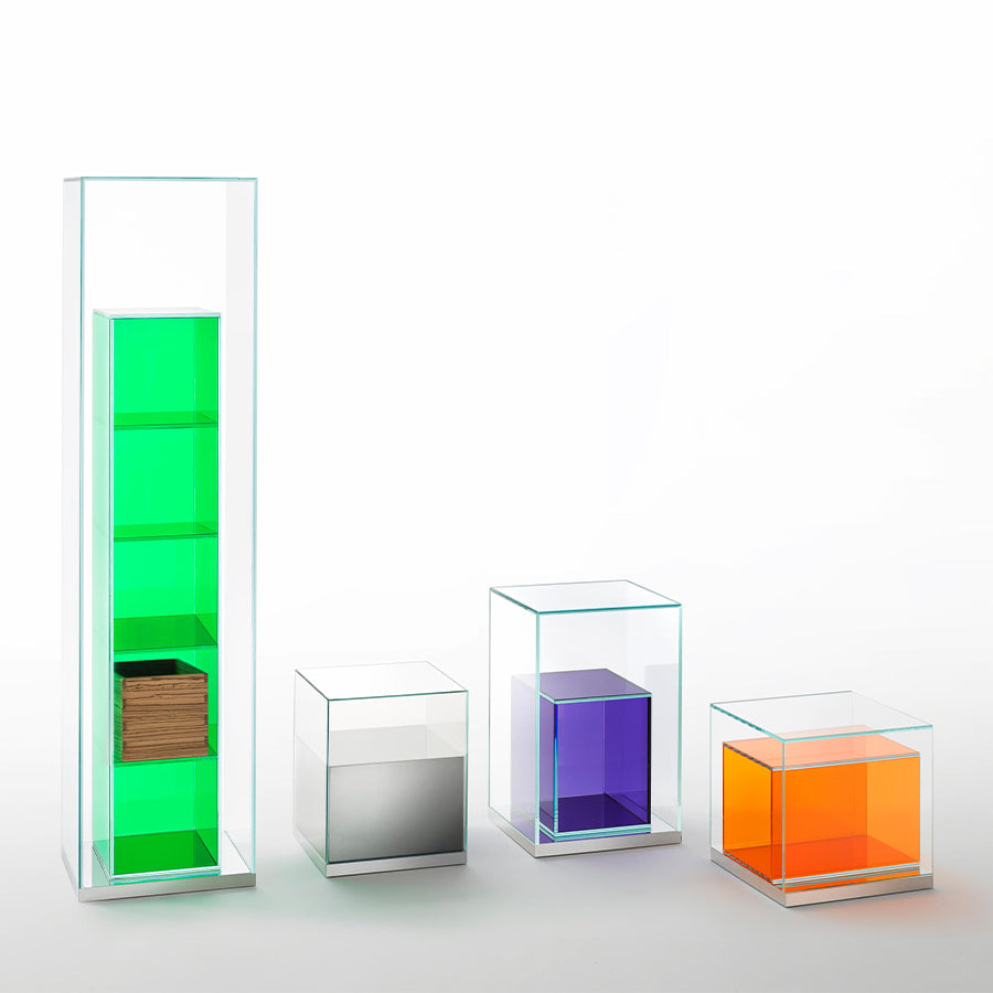 Boxinbox Storage Unit In Extralight Glass And Light Grey