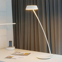 Glance Curved Table Lamp in Matt White with Gesture Control