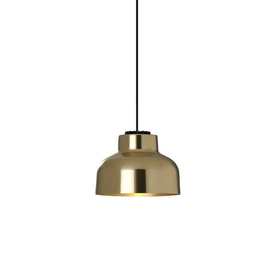 M64 Pendant Lamp in brass, black surface and cable