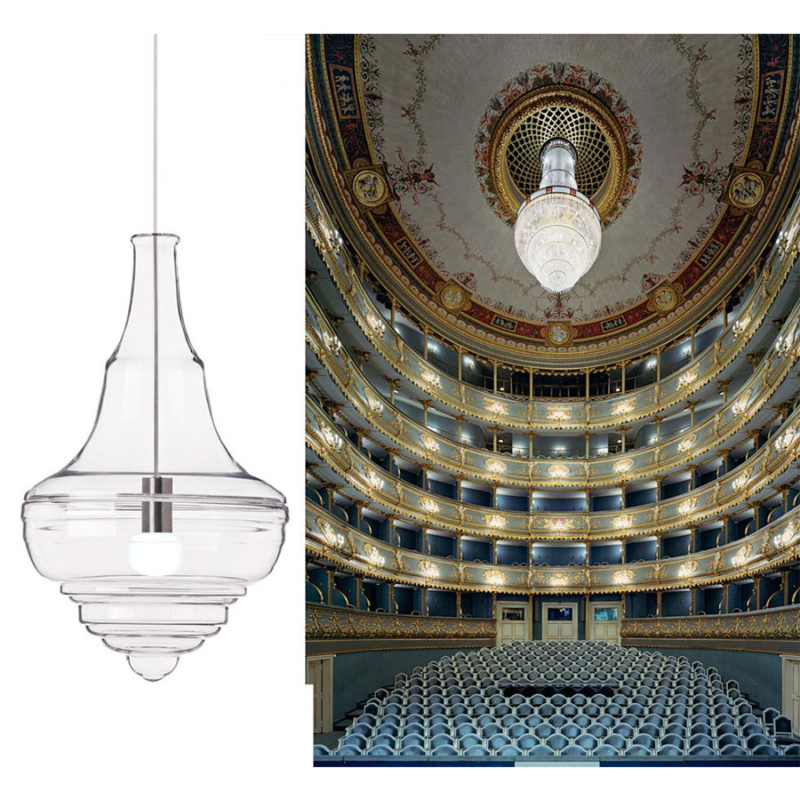 NEVERENDING GLORY Prague Estate Theatre Small PENDANT LAMP IN OPAL