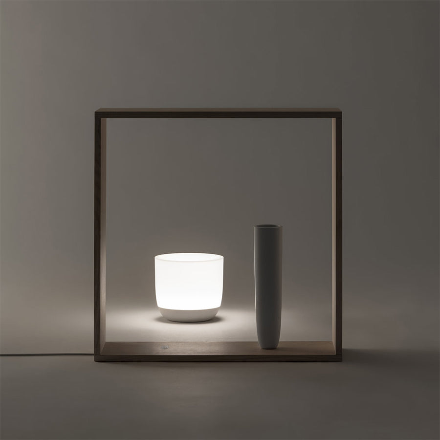 Gaku Wireless Table Lamp in White & Ash