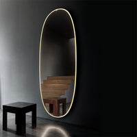 La Plus Belle Wall-Mounted Mirror in Bronze