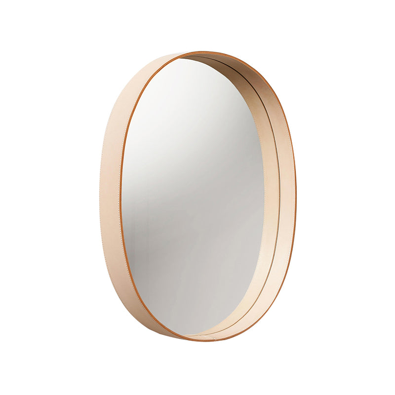 Oval Mirror in Natural