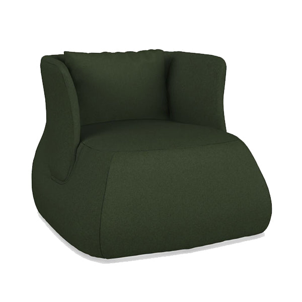 Fat-Sofa Low Back Armchair In 430 Sidro Grass Green Fabric
