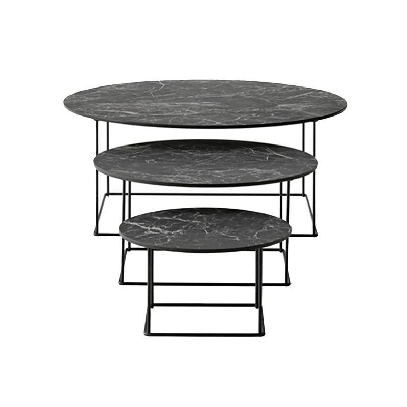 Fat-Fat Outdoor Small Table In 0355N Anthracite Stone Porcelain Stoneware Top