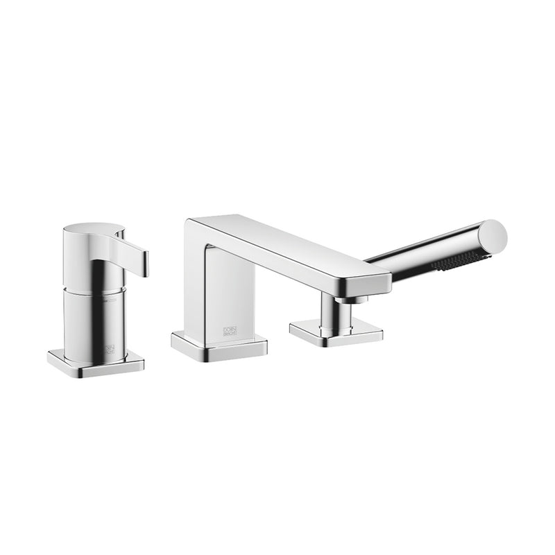 27412710.04 (XV-009822) LULU 3-hole single lever bath mixer in brushed chrome with bath rim or tile edge installation