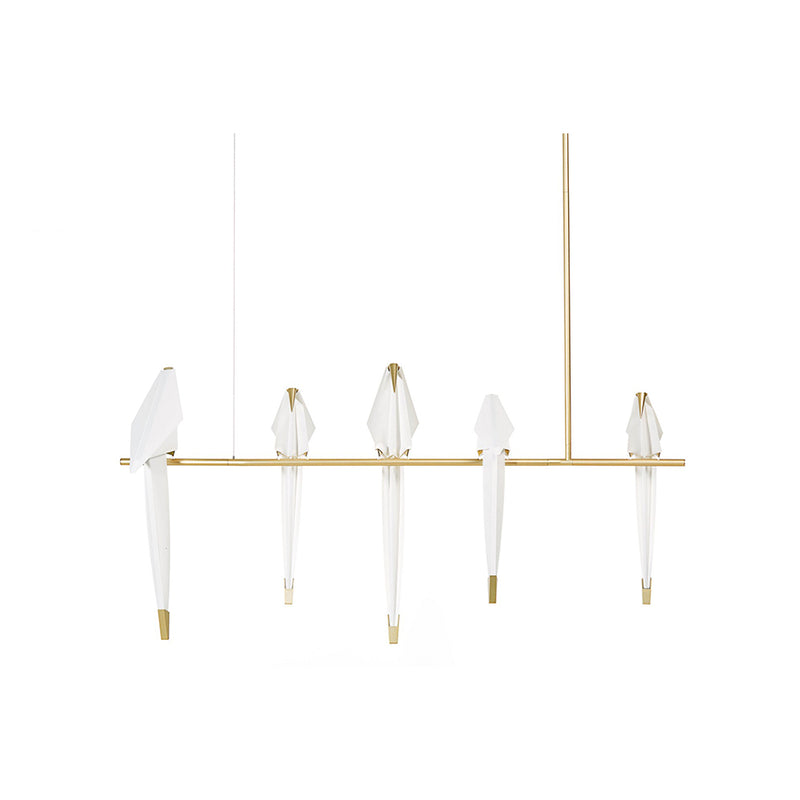 Perch Light Branch Pendant Lamp in brass
