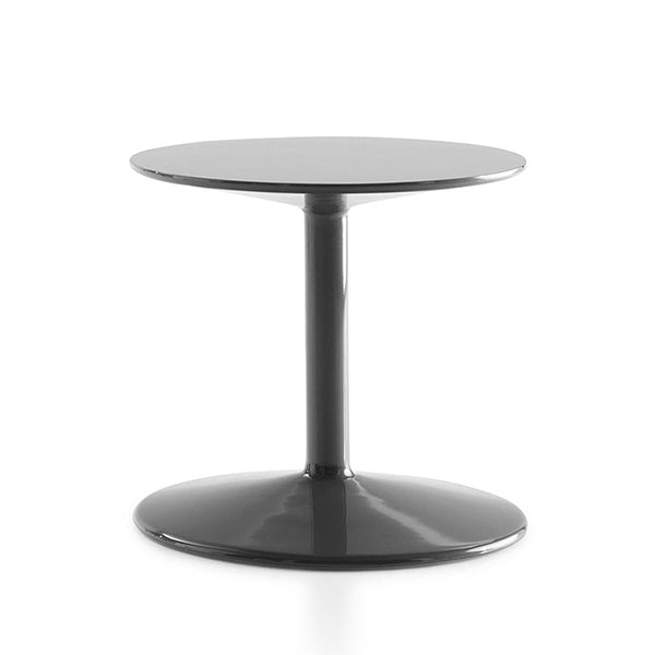Spool Small Table In 1340L Glossy Steel Grey