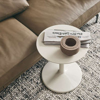 Spool Small Table In 3750L Glossy Coffee