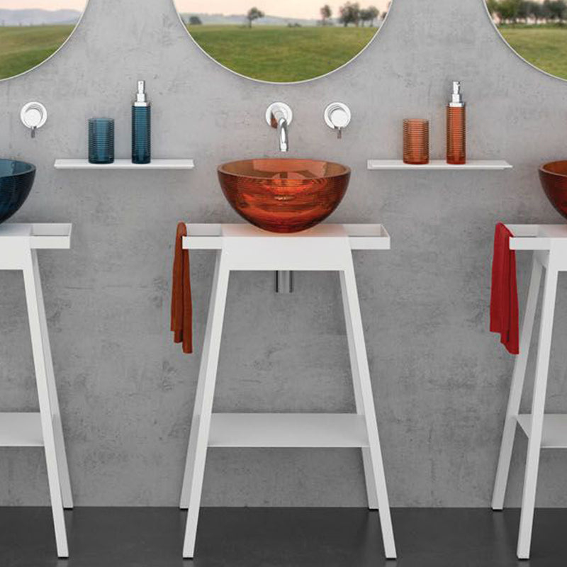 GLOBO sit-on washbasin GLOBO34T38