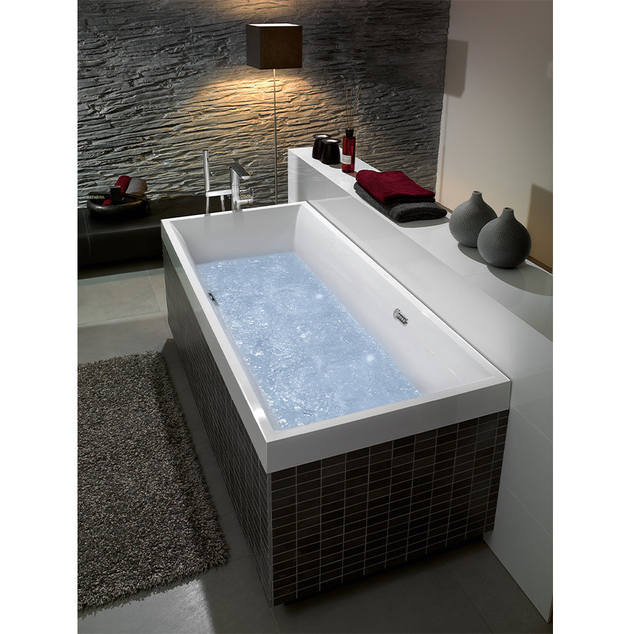 Squaro drop-in bathtub with whirlpool system UIP170SQR2A1V.96