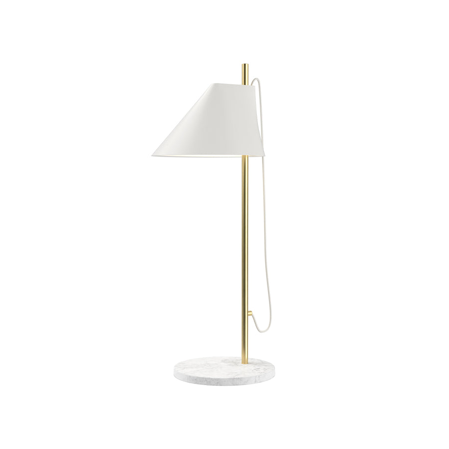 Yuh Brass Table Lamp in White