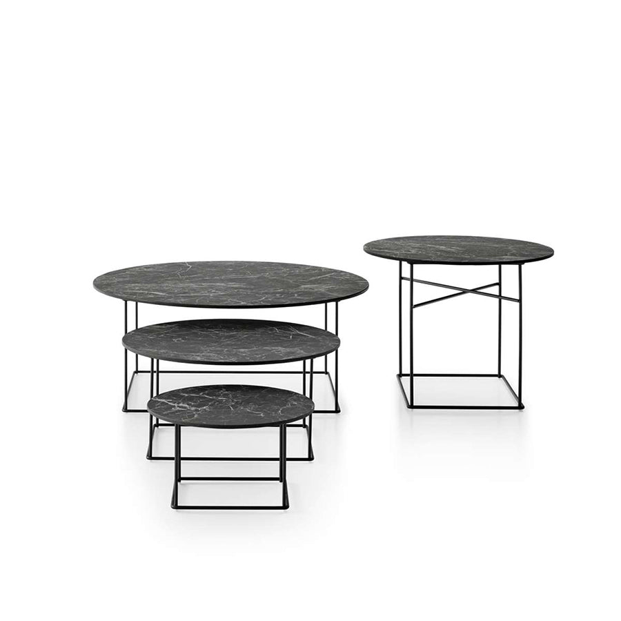 Fat-Fat Outdoor OTF62G Small Table With Anthracite Stone Porcelain Stoneware Top