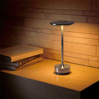 Turn Cordless Table Lamp in Stainless Steel