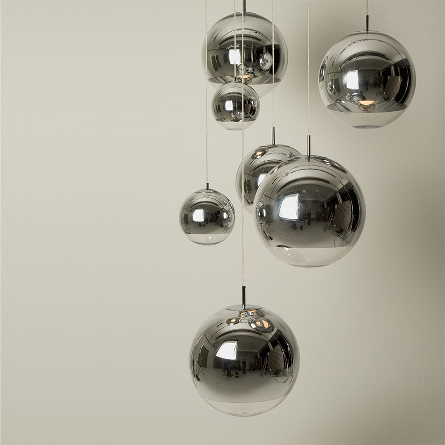 Mirror Ball Pendant Lamp 40cm in Chrome