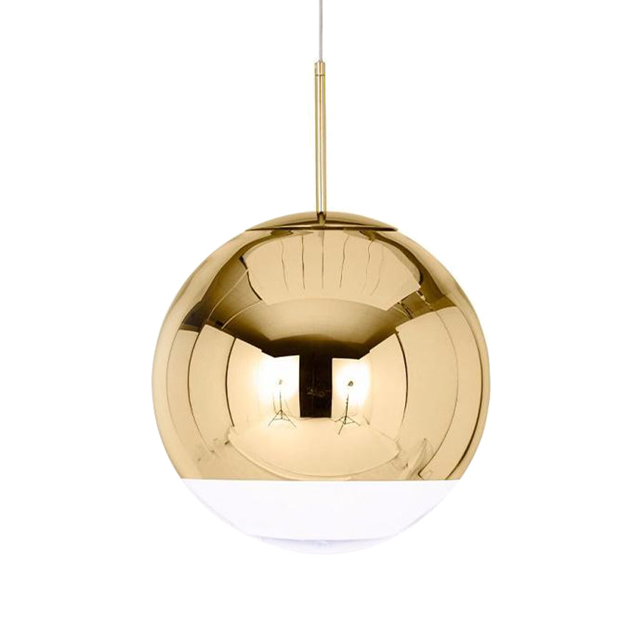 Mirror Ball Pendant Lamp 40cm in Gold