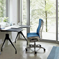 Embody Task Chair In 3003 Rhythm Peacock Fabric