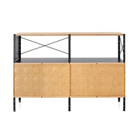 Eames Storage Unit In Natural Surface And Black Frame
