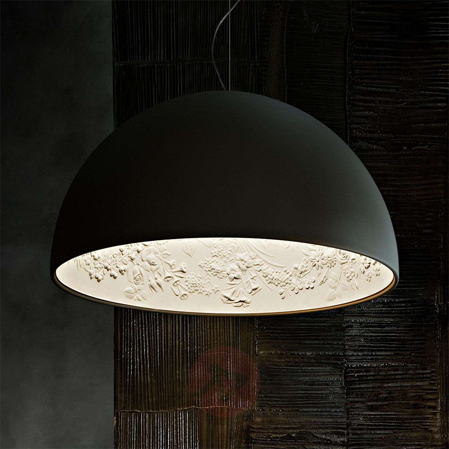 Skygarden Suspension Lamp in Matt Black