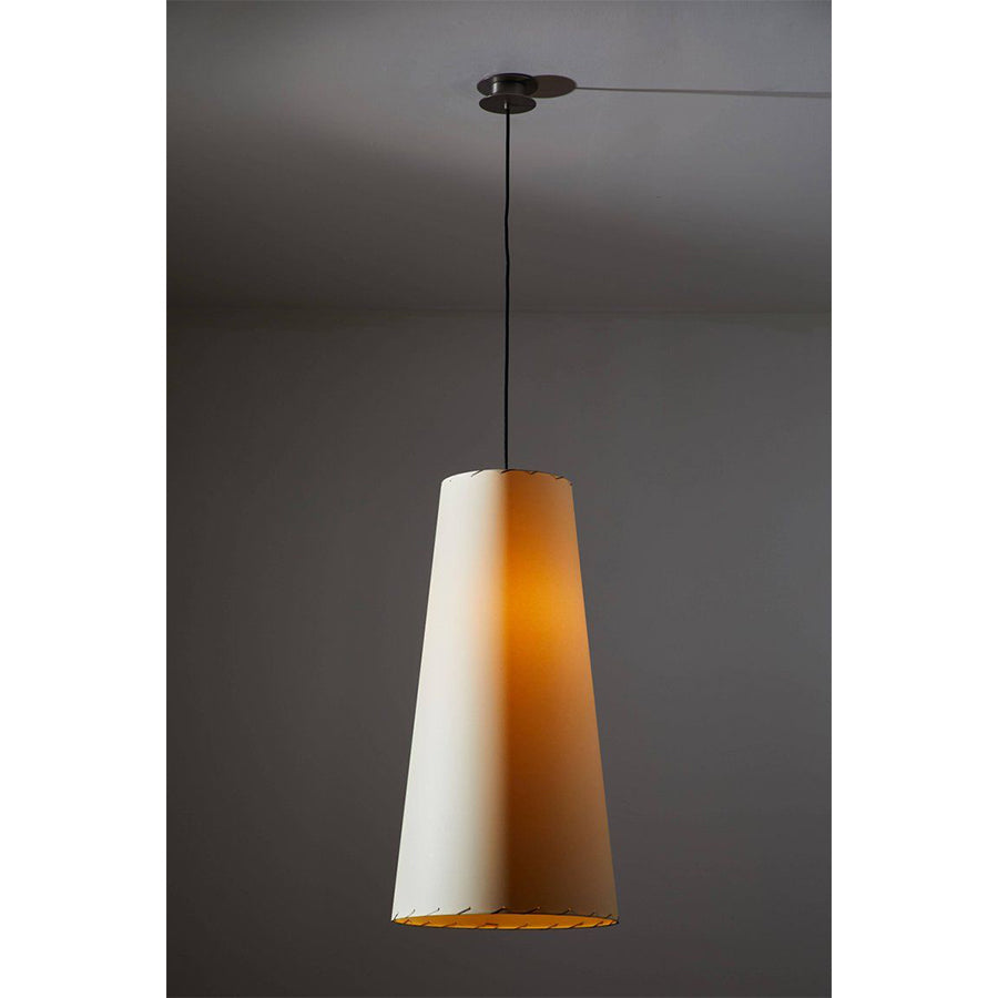 GT4 Pendant Lamp in beige parchment lampshade
