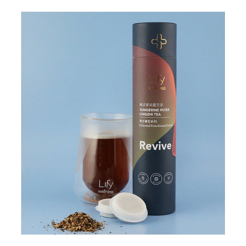 Revive Tangerine Pu'er Lingzhi Tea, 14/tube