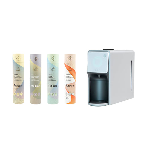 Smart Herbal Brewer Starter Kit - Detox Cleansing Series (with 4 tea tubes)