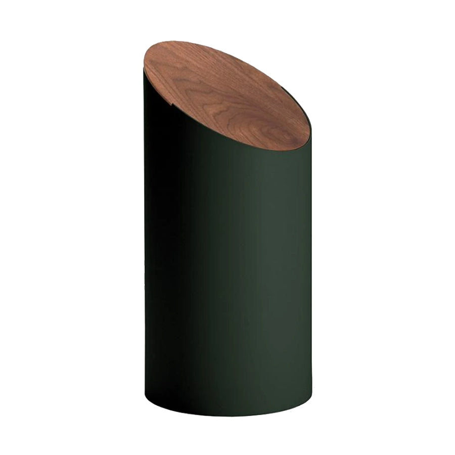 Swing Bin in Green + Cover in Walnut (Medium)