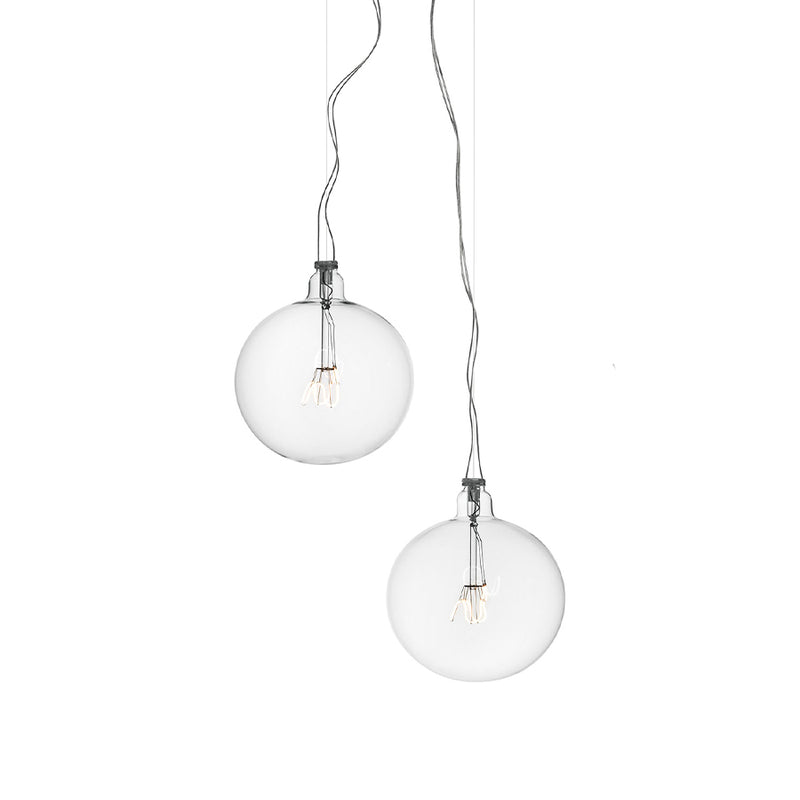 Bulbo57 Suspension Lamp in Blown Crystal