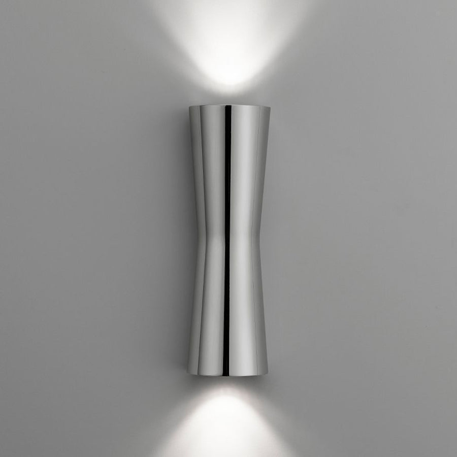 Clessidra 40°+40° Wall Lamp in Chrome