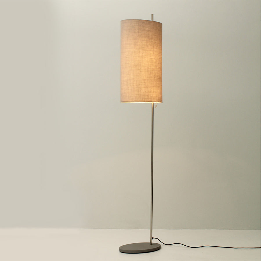 AJ Royal Floor Lamp in Natural Oak with White Linen