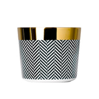 Champagne Tumbler, Fashion Herringbone