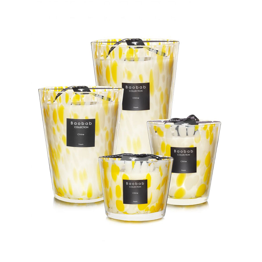 Citrine Pearls Candle