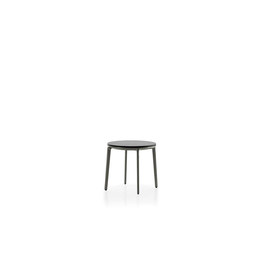 Caratos TCA43R Small Table With Matt Carrara White Marble Top