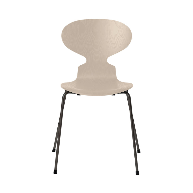 FRITZ HANSEN Ant 3101 Chair, 520w x 480d x 810h mm, Frame Warm Graphite, Shell Light Beige Coloured Ash 135