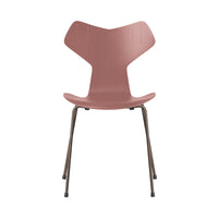 FRITZ HANSEN Grand Prix 3130 Chair, 480w x 510d x 830h mm, Frame Brown Bronze, Shell Wild Rose Coloured Ash 635[ONLINE EXCLUSIVE]