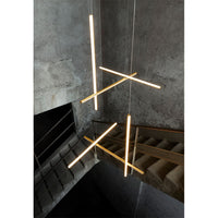 Coordinates S1 F1860044 Suspension Lamp in Anodized