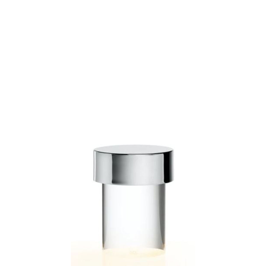 Last Order Clear Table Lamp in Polished Inox (Online Exclusive)