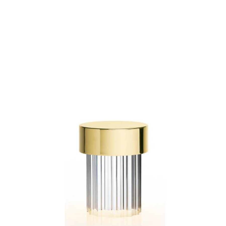 Last Order Fluted Table Lamp in Polished Brass