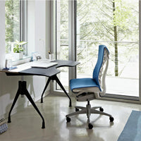 Embody Task Chair in 3005 Rhythm berry blue fabric and black frame